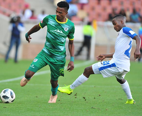 Tebogo Sodi of Baroka FC and Tebogo Tlolane of Chippa United during the Absa Premiership 2018/19 game between Baroka FC and Chippa United at Peter Mokaba Stadium in Polokwane the on 03 February 2019 © Kabelo Leputu/BackpagePix