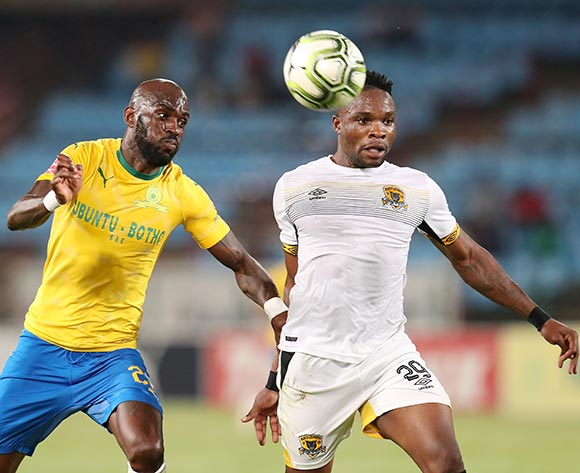 Isaac Masia of Black Leopards challenged by Anthony Laffor of Mamelodi Sundowns during the Absa Premiership 2018/19 match between Mamelodi Sundowns and Black Leopards at the Loftus Versveld Stadium, Pretoria on the 06 February 2019 ©Muzi Ntombela/BackpagePix