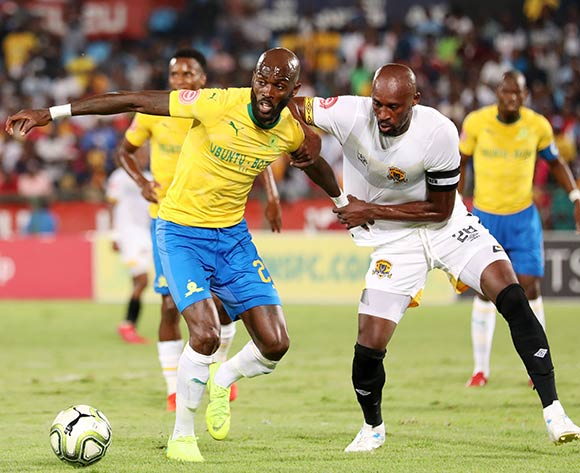 Anthony Laffor of Mamelodi Sundowns challenged by Jean Munganga of Black Leopards during the Absa Premiership 2018/19 match between Mamelodi Sundowns and Black Leopards at the Loftus Versveld Stadium, Pretoria on the 06 February 2019 ©Muzi Ntombela/BackpagePix
