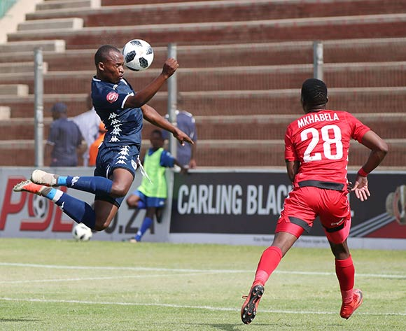 Gift Motupa of Bidvest Wits heads goal past Marlon Heugh of Highlands Park during the Absa Premiership 2018/19 football match between Highlands Park and Bidvest Wits at Makhulong Stadium, Tembisa on 09 February 2019 ©Gavin Barker/BackpagePix