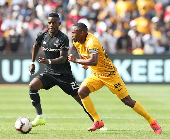 Bernard Parker of Kaizer Chiefs challenged by Innocent Maela of Orlando Pirates during the Absa Premiership 2018/19 match between  Kaizer Chiefs and Orlando Pirates at the FNB Stadium, Johannesburg on the 09 February 2019 ©Muzi Ntombela/BackpagePix