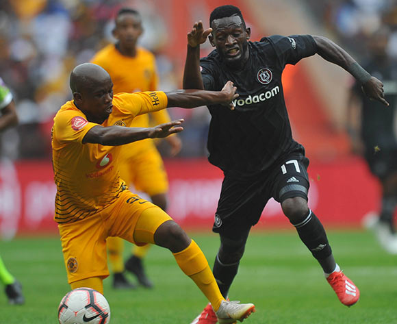 Siphosakhe Ntiya Ntiya of Kaizer Chiefs challenges Augustine Mulenga of Orlando Pirates during the Absa Premiership match between Kaizer Chiefs and Orlando Pirates on the 09 February 2019 at FNB Stadium Pic Sydney Mahlangu/ BackpagePix