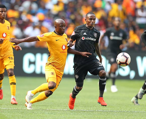 Thembinkosi Lorch of Orlando Pirates challenged by Siphosakhe Ntiya Ntiya of Kaizer Chiefs during the Absa Premiership 2018/19 match between Kaizer Chiefs and Orlando Pirates at FNB Stadium, Johannesburg on 9 February 2019 ©Samuel Shivambu/BackpagePix