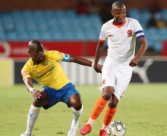 Jabulani Maluleke of Polokwane City challenged by Hlompho Kekana of Mamelodi Sundowns during the Absa Premiership 2018/19 match between Mamelodi Sundowns and Polokwane City at the Loftus Versveld Stadium, Pretoria on the 19 February 2019 ©Muzi Ntombela/BackpagePix