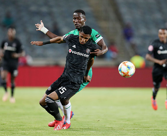 Vincent Pule of Orlando Pirates challenged by Tapelo Nyongo of AmaZulu during the Absa Premiership 2018/19 match between Orlando Pirates and AmaZulu at the Orlando Stadium, Soweto on the 23 February 2019 ©Muzi Ntombela/BackpagePix