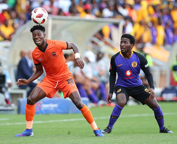 Salulani Phiri of Polokwane City challenged by Siphelele Ntshangase of Kaizer Chiefs during the Absa Premiership 2018/19 match between Polokwane City and Kaizer Chiefs at Peter Mokaba Stadium, Polokwane on 23 February 2019 ©Samuel Shivambu/BackpagePix