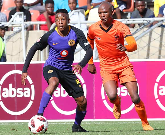 Hendrick Ekstein of Kaizer Chiefs challenged by Bongile Booi of Polokwane City during the Absa Premiership 2018/19 match between Polokwane City and Kaizer Chiefs at Peter Mokaba Stadium, Polokwane on 23 February 2019 ©Samuel Shivambu/BackpagePix