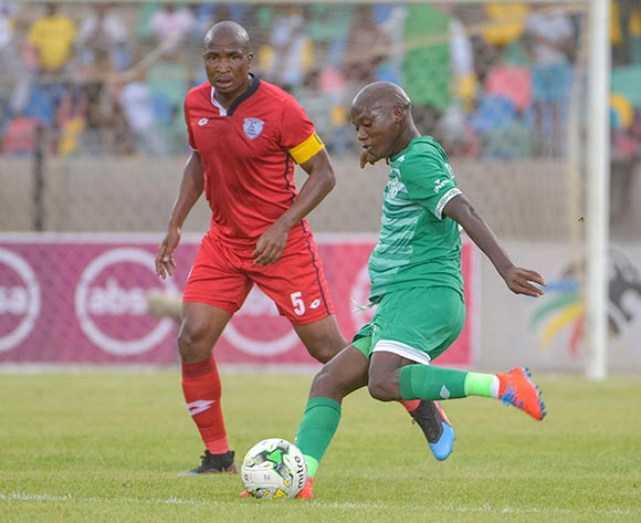 Kabelo Dlamini of Bloemfontein Celtic and Paulus Masehe of Free State Stars during the Absa Premiership 2018/19 game between Bloemfontein Celtic and Free State Stars at Dr Molemela  Stadium in Bloemfontein on 24 February 2019 © Frikkie Kapp/BackpagePix