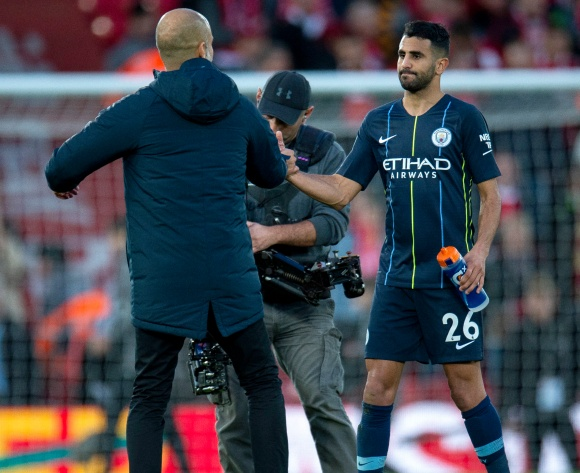 Algerian Riyad Mahrez score for Man City in FA Cup