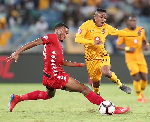 Hendrick Ekstein of Kaizer Chiefs tackled by Mothobi Mvala of Highlands Park during the Absa Premiership 2018/19 match between Kaizer Chiefs and Highlands Park at the Moses Mabhida Stadium, Durban on the 02 March 2019 ©Muzi Ntombela/BackpagePix