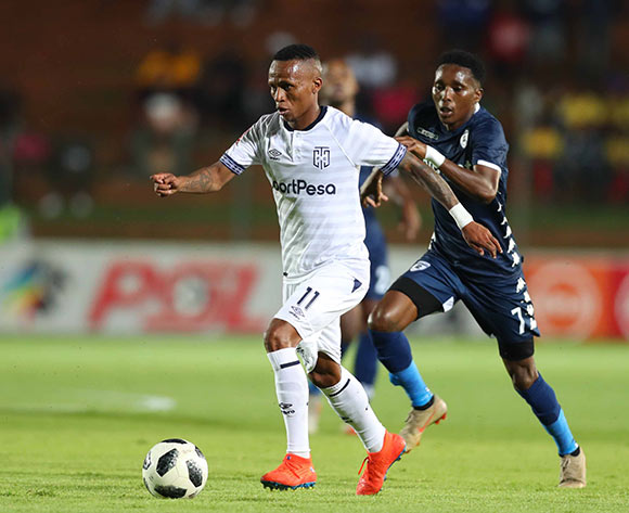 Surprise Ralani of Cape Town City challenged by Elias Pelembe of Bidvest Wits during the Absa Premiership 2018/19 match between Bidvest Wits and Cape Town City at Bidvest Stadium, Johannesburg on 02 March 2019 ©Samuel Shivambu/BackpagePix