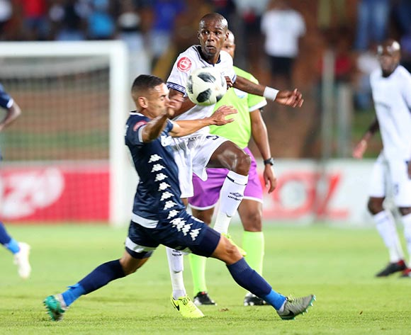 Zukile Kewuti of Cape Town City challenged by Cole Alexander of Bidvest Wits during the Absa Premiership 2018/19 match between Bidvest Wits and Cape Town City at Bidvest Stadium, Johannesburg on 02 March 2019 ©Samuel Shivambu/BackpagePix