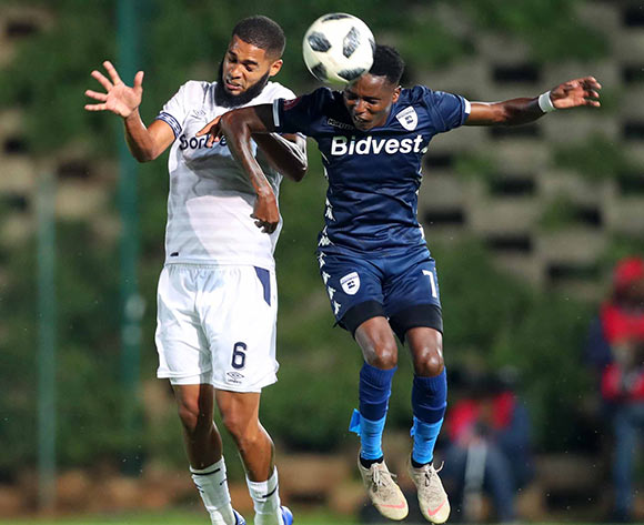 Ebrahim Seedat of Cape Town City challenged by Elias Pelembe of Bidvest Wits  during the Absa Premiership 2018/19 match between Bidvest Wits and Cape Town City at Bidvest Stadium, Johannesburg on 02 March 2019 ©Samuel Shivambu/BackpagePix