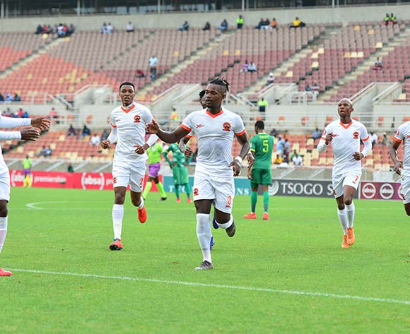 Polokwane City players celebrating during the Absa Premiership 2018/19 game between Baroka FC and Polokwane City at Peter Mokaba Stadium in Polokwane the on 3 March 2019 © Kabelo Leputu/BackpagePix