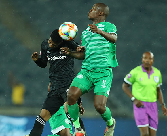 Vincent Pule of Orlando Pirates challenged by Lantshene Phalane of Bloemfontein Celtic during the Absa Premiership 2018/19 match between Orlando Pirates and Bloemfontein Celtic at Orlando Stadium, Johannesburg on 05 March 2019 ©Samuel Shivambu/BackpagePix