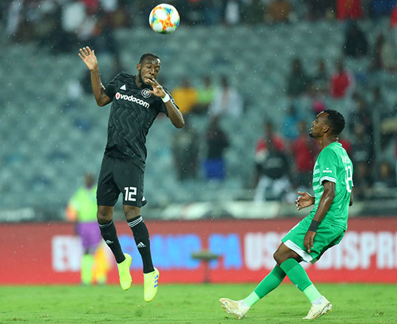 Justin Shonga of Orlando Pirates challenged by Given Mashikinya of Bloemfontein Celtic during the Absa Premiership 2018/19 match between Orlando Pirates and Bloemfontein Celtic at Orlando Stadium, Johannesburg on 05 March 2019 ©Samuel Shivambu/BackpagePix
