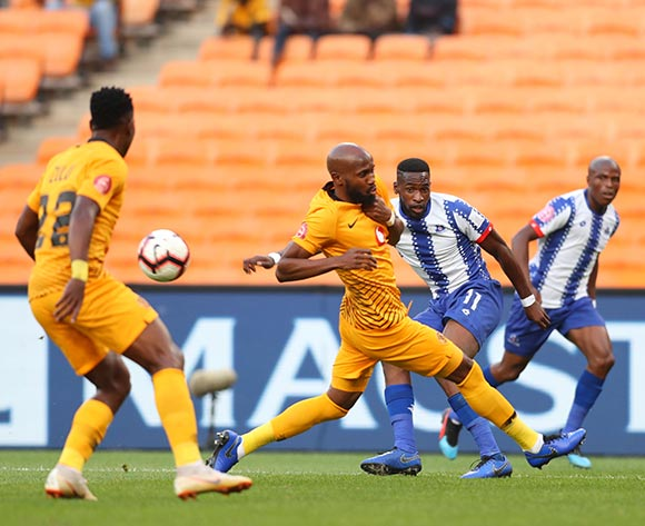 Fortune Makaringe of Maritzburg United challenged by Ramahlwe Mphahlele of Kaizer Chiefs during the Absa Premiership 2018/19 match between Kaizer Chiefs and Maritzburg United at FNB Stadium, Johannesburg on 09 March 2019 ©Samuel Shivambu/BackpagePix