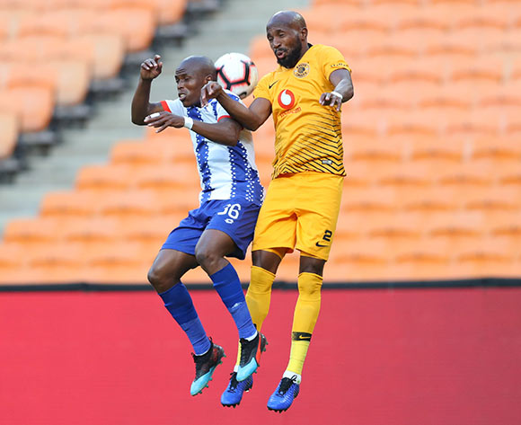 Mxolisi Kunene of Maritzburg United challenged by Ramahlwe Mphahlele of Kaizer Chiefs during the Absa Premiership 2018/19 match between Kaizer Chiefs and Maritzburg United at FNB Stadium, Johannesburg on 09 March 2019 ©Samuel Shivambu/BackpagePix