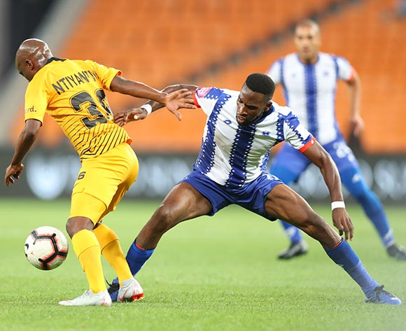 Siphosakhe Ntiya Ntiya of Kaizer Chiefs challenged by Fortune Makaringe of Maritzburg United during the Absa Premiership 2018/19 match between Kaizer Chiefs and Maritzburg United at FNB Stadium, Johannesburg on 09 March 2019 ©Samuel Shivambu/BackpagePix