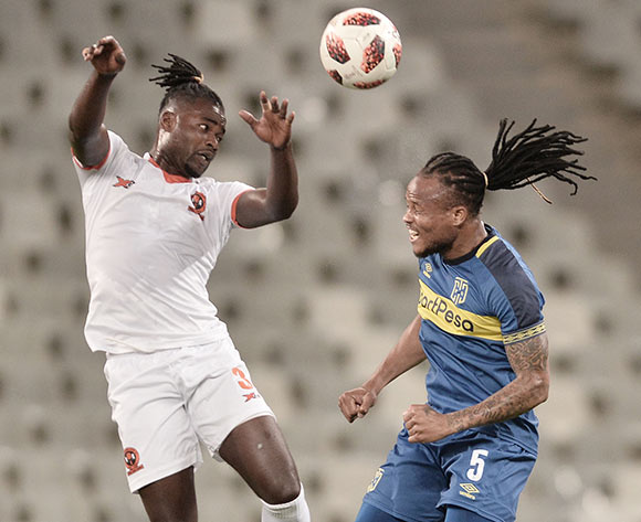 Mohammed Anas of Polokwane City FC and Edmilson Dove of Cape Town City during the Absa Premiership 2018/19 game between Cape Town City and Polokwane City at Cape Town Stadium on 15 March 2019 © Luigi Bennett/BackpagePix