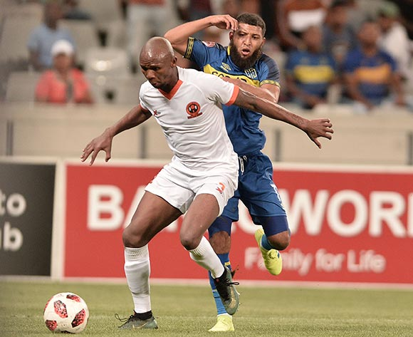 Mohammed Anas of Polokwane City FC and Riyaad Norodien of Cape Town City during the Absa Premiership 2018/19 game between Cape Town City and Polokwane City at Cape Town Stadium on 15 March 2019 © Luigi Bennett/BackpagePix