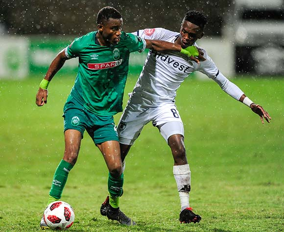 Thabang Monare of Bidvest Wits challenges Ovidy Karuru of AmaZulu FC during the Absa Premiership 2018/19 game between AmaZulu FC and Bidvest Wits FC at King Zwelithini Stadium in Durban the on 09 March 2019 © Gerhard Duraan/BackpagePix