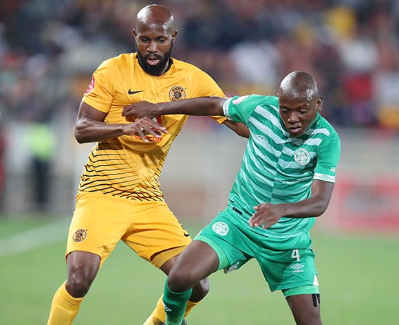 Kabelo Dlamini of Bloemfontein Celtic challenged by Ramahlwe Mphahlele of Kaizer Chiefs during the Absa Premiership 2018/19 match between Bloemfontein Celtic and Kaizer Chiefs at the Peter Mokaba Stadium, Polokwane on the 27 April 2019 ©Muzi Ntombela/BackpagePix