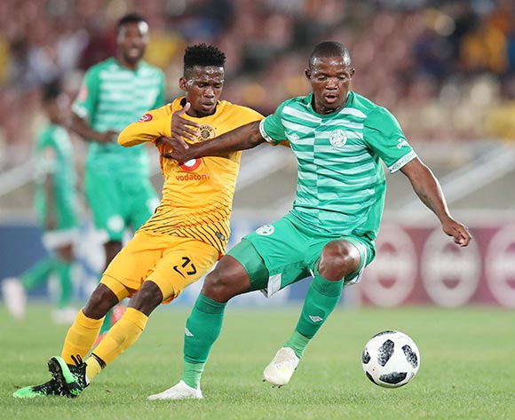 Mpho Maruping of Bloemfontein Celtic challenged by Kabelo Mahlasela of Kaizer Chiefs during the Absa Premiership 2018/19 match between Bloemfontein Celtic and Kaizer Chiefs at the Peter Mokaba Stadium, Polokwane on the 27 April 2019 ©Muzi Ntombela/BackpagePix