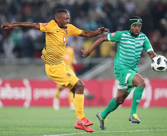 Bernard Parker of Kaizer Chiefs challenged by Wandisile Letlabika of Bloemfontein Celticduring the Absa Premiership 2018/19 match between Bloemfontein Celtic and Kaizer Chiefs at the Peter Mokaba Stadium, Polokwane on the 27 April 2019 ©Muzi Ntombela/BackpagePix