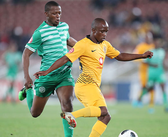 Siphosakhe Ntiya Ntiya of Kaizer Chiefs challenged by Ndumiso Mabena of Bloemfontein Celtic during the Absa Premiership 2018/19 match between Bloemfontein Celtic and Kaizer Chiefs at the Peter Mokaba Stadium, Polokwane on the 27 April 2019 ©Muzi Ntombela/BackpagePix