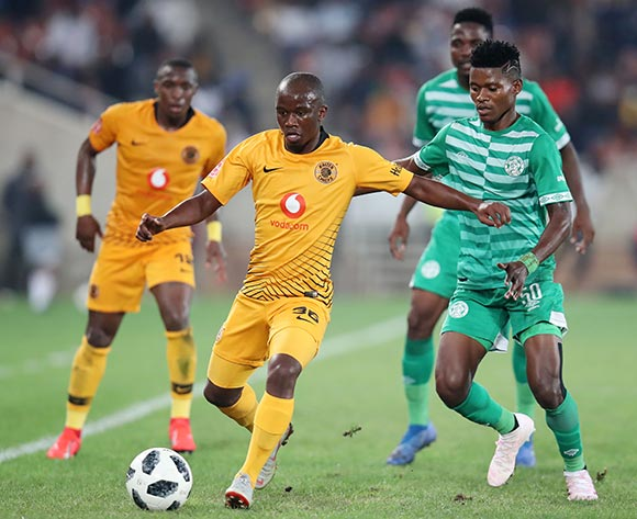 Siphosakhe Ntiya Ntiya of Kaizer Chiefs challenged by Menzi Masuku of Bloemfontein Celtic during the Absa Premiership 2018/19 match between Bloemfontein Celtic and Kaizer Chiefs at the Peter Mokaba Stadium, Polokwane on the 27 April 2019 ©Muzi Ntombela/BackpagePix