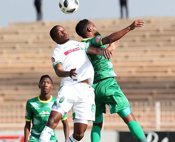 Butholezwe Ncube of AmaZulu challenged by Mduduzi Mdantsane of Baroka during the Absa Premiership 2018/19 match between Baroka and AmaZulu at the Old Peter Mokaba Stadium, Polokwane on the 28 April 2019 ©Muzi Ntombela/BackpagePix