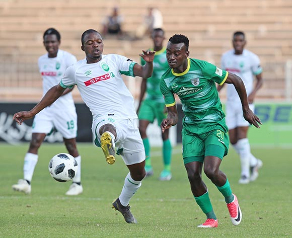 Tshediso Patjie of Baroka challenged by during the Absa Premiership 2018/19 match between Baroka and AmaZulu at the Old Peter Mokaba Stadium, Polokwane on the 28 April 2019 ©Muzi Ntombela/BackpagePix