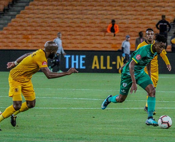 Matome Mabeba of Baroka FC challenged by Ramahlwe Mphahlele of Kaizer Chiefs during the Absa Premiership 2018/19 game between Kaizer Chiefs and Baroka FC at Bidvest Stadium in Polokwane the on 06 April 2019 ©Lebo Edgar/BackpagePix