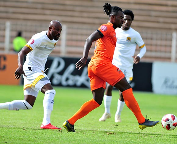 Mohammed Anas of Polokwane City and Jean Munganga of Black Leopards during the Absa Premiership 2018/19 game between Polokwane City and Black Leopards at Peter Mokaba Stadium in Polokwane the on 07 April 2019 © Kabelo Leputu/BackpagePix