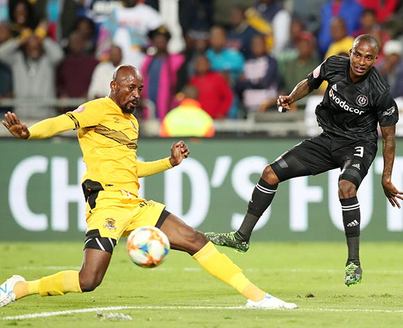 Thembinkosi Lorch of Orlando Pirates challenged by Jean Munganga of Black Leopards during the Absa Premiership 2018/19 match between Orlando Pirates and Black Leopards at the Orlando Stadium, Soweto on the 10 April 2019 ©Muzi Ntombela/BackpagePix