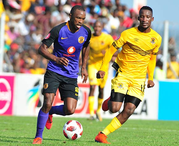 Bernard Parker of Kaizer Chiefs and Tshwarelo Bereng of Black Leopards during the Absa Premiership 2018/19 game between Black Leopards and Kaizer Chiefs at Peter Thohoyandou Stadium in Polokwane the on 13 April 2019 © Kabelo Leputu/BackpagePix