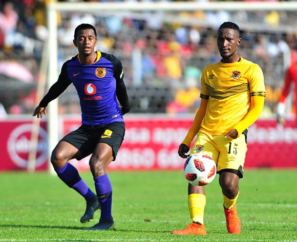 Tshwarelo Bereng of Black Leopards and Aro Andrianarimanana of Kaizer Chiefs during the Absa Premiership 2018/19 game between Black Leopards and Kaizer Chiefs at Peter Thohoyandou Stadium in Polokwane the on 13 April 2019 © Kabelo Leputu/BackpagePix