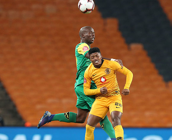 Dumisani Zuma of Kaizer Chiefs challenged by Nkosinathi Sibisi of Golden Arrows during the Absa Premiership 2018/19 match between Kaizer Chiefs and Golden Arrows at the FNB Stadium, Johannesburg on the 23 April 2019 ©Muzi Ntombela/BackpagePix