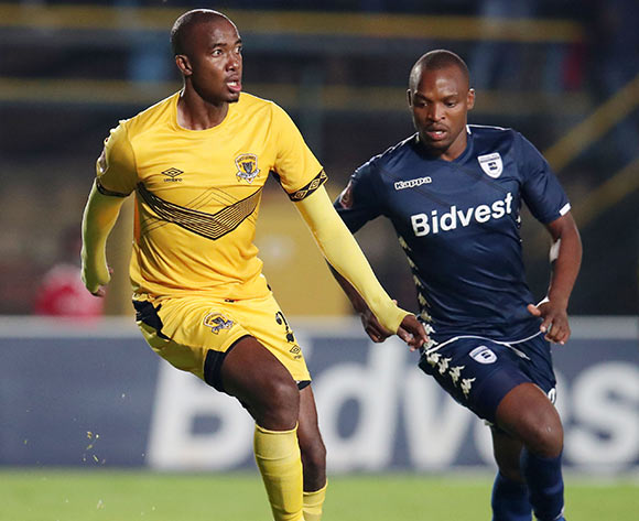 Lehlohonolo Masalesa of Black Leopards challenged by Gift Motupa of Bidvest Wits during the Absa Premiership 2018/19 match between Bidvest Wits and Black Leopards at the Bidvest Stadium, Johannesburg on the 24 April 2019 ©Muzi Ntombela/BackpagePix