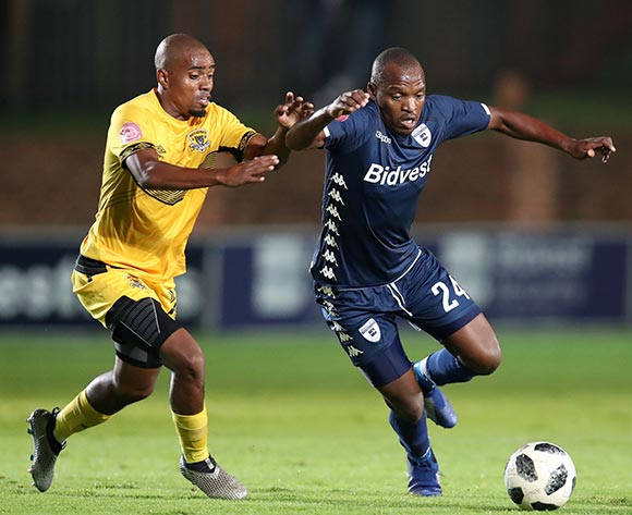 Gift Motupa of Bidvest Wits challenged by Thabiso Mokoena of Black Leopards during the Absa Premiership 2018/19 match between Bidvest Wits and Black Leopards at the Bidvest Stadium, Johannesburg on the 24 April 2019 ©Muzi Ntombela/BackpagePix