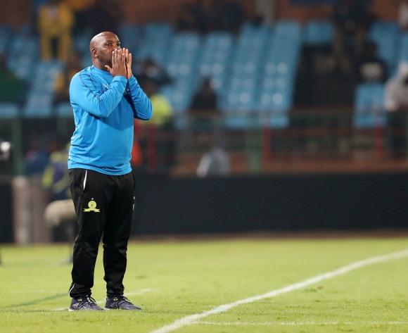 Pitso Mosimane urges Sundowns players to keep feet on the ground