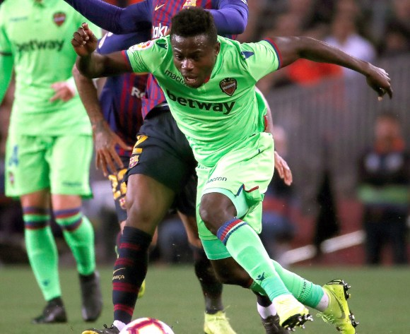 WATCH: Nigerian Moses Simon's Levante thump Rayo Vallecano