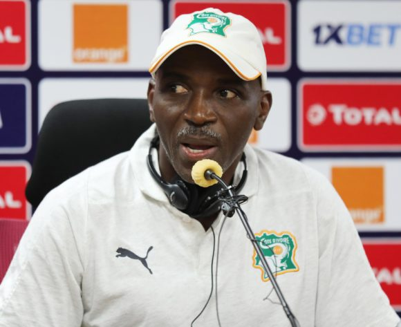 Ibrahim Kamara addresses media during the 2019 Africa Cup of Nations Finals Ivory Coast Press Conference at the Al Salam Stadium, Cairo, Egypt on 27 June 2019 ©Gavin Barker/BackpagePix
