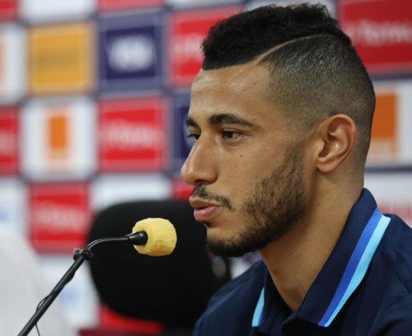 Younes Belhanda adddresses media during the 2019 Africa Cup of Nations Finals Morocco Press Conference at the Al Salam Stadium, Cairo, Egypt on 27 June 2019 ©Gavin Barker/BackpagePix