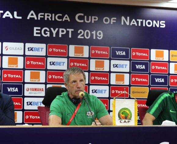 Stuart Baxter addresses media during the 2019 Africa Cup of Nations Finals South Africa Press Conference at the Al Salam Stadium, Cairo, Egypt on 27 June 2019 ©Gavin Barker/BackpagePix