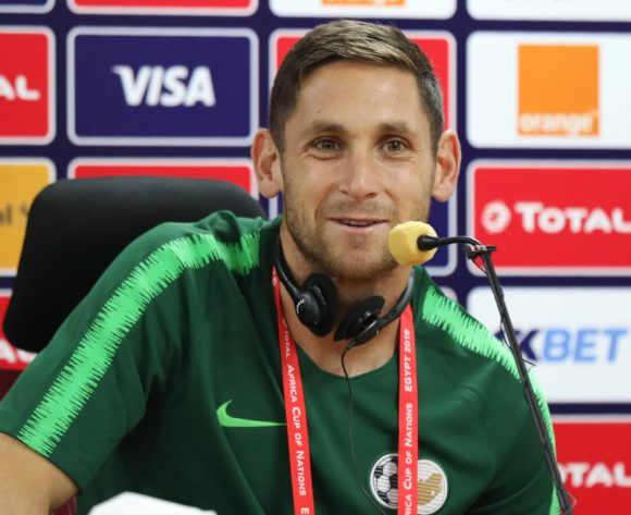 Dean Furman addresses media during the 2019 Africa Cup of Nations Finals South Africa Press Conference at the Al Salam Stadium, Cairo, Egypt on 27 June 2019 ©Gavin Barker/BackpagePix