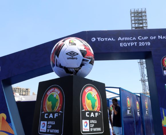 Gv of the match ball during the 2019 Africa Cup of Nations match between Madagascar and Burundi at the Alexandria Stadium, Alexandria on the 27 June 2019 ©Muzi Ntombela/BackpagePix