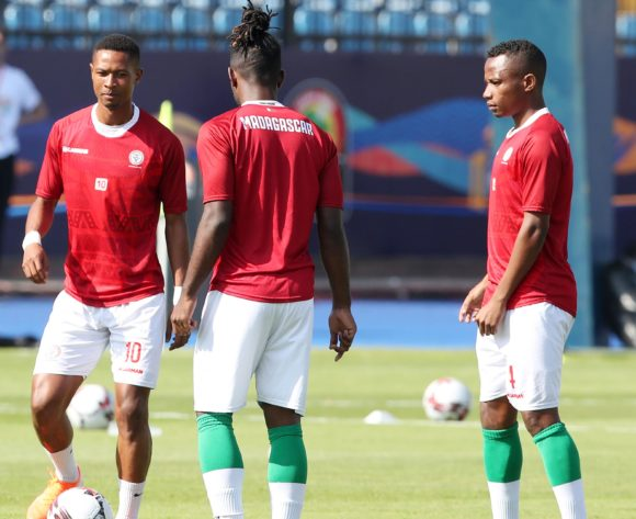 Madagascar warming up during the 2019 Africa Cup of Nations match between Madagascar and Burundi at the Alexandria Stadium, Alexandria on the 27 June 2019 ©Muzi Ntombela/BackpagePix