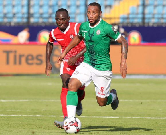Marco Ilaiharitra of Madagascar challenged by Amissi Cedric of Burundi during the 2019 Africa Cup of Nations match between Madagascar and Burundi at the Alexandria Stadium, Alexandria on the 27 June 2019 ©Muzi Ntombela/BackpagePix